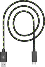 SNAKEBYTE CHARGE:CABLE SX -  Cavo USB-C (Nero/Verde)