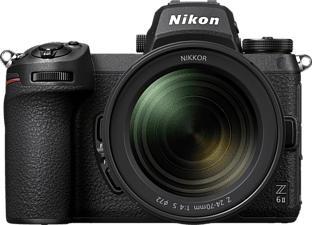 NIKON Z 6II Body + NIKKOR Z 24-70mm f/4 S - Systemkamera (Fotoauflösung: 24.5 MP) Schwarz
