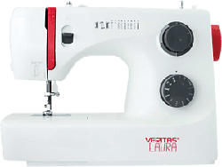 VERITAS Laura - Machine à coudre (Blanc/Rouge)