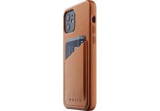MUJJO Full Leather Wallet Case - Coque (Convient pour le modèle: Apple iPhone 12, iPhone 12 Pro)