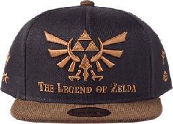 "DIFUZED ""The Legend of Zelda"" Snapback Cap - Casquette (Noir/Brun)"