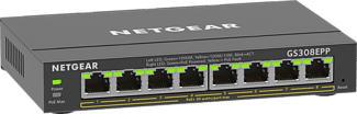 NETGEAR GS308EPP - Switch (Schwarz)