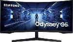 """MediaMarkt SAMSUNG Odyssey G5 LC34G55TWWU - Moniteur gaming (34 """", UWQHD, 165 Hz, Noir)"""