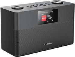 KENWOOD CR-ST100S-B - Internetradio (DAB, DAB+, FM, Internet radio, Schwarz)