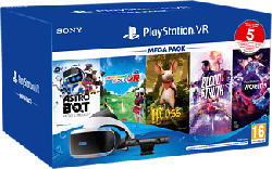 SONY PS PlayStation VR Mega Pack 3 - PS VR-Headset + Camera + 5 Spiele (Schwarz/Weiss)