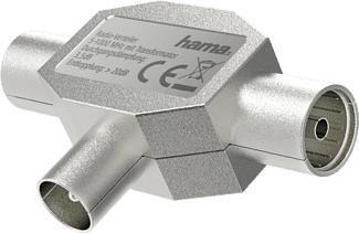 HAMA 205237 ADAPTER COAX 1XF/2XM - Antennenverteiler (Silber)