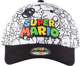DIFUZED Nintendo: Super Mario Villains All Over Print - Casquette (Multicolore)