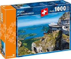 CARTA MEDIA Pilatus mit Vierwaldstättersee - Puzzle (Multicolore)