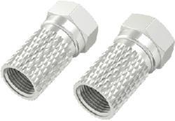 HAMA 00205208 - F-Stecker (Silber)