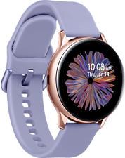 SAMSUNG Galaxy Watch Active2 BT 40mm - Smartwatch (20 mm, Silikon, Roségold/Violett)