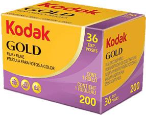 KODAK GOLD 200 135-36 - Film analogique (Jaune/Pourpre)