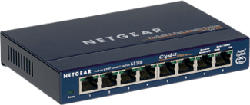 NETGEAR ProSafe GS108 8-port Gigabit Desktop Switch - Switch (Blau)