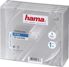 HAMA 44748 CD BOX STD CLEAR - CD-Leerhülle (Transparent)