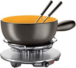 KOENIG B02179 - Kit Fondue di formaggio (Nero/Oro)