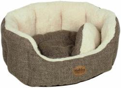 "Komfort-Bett ""Alba"" oval, 86x70x24 cm, braun 86x70x24 cm"