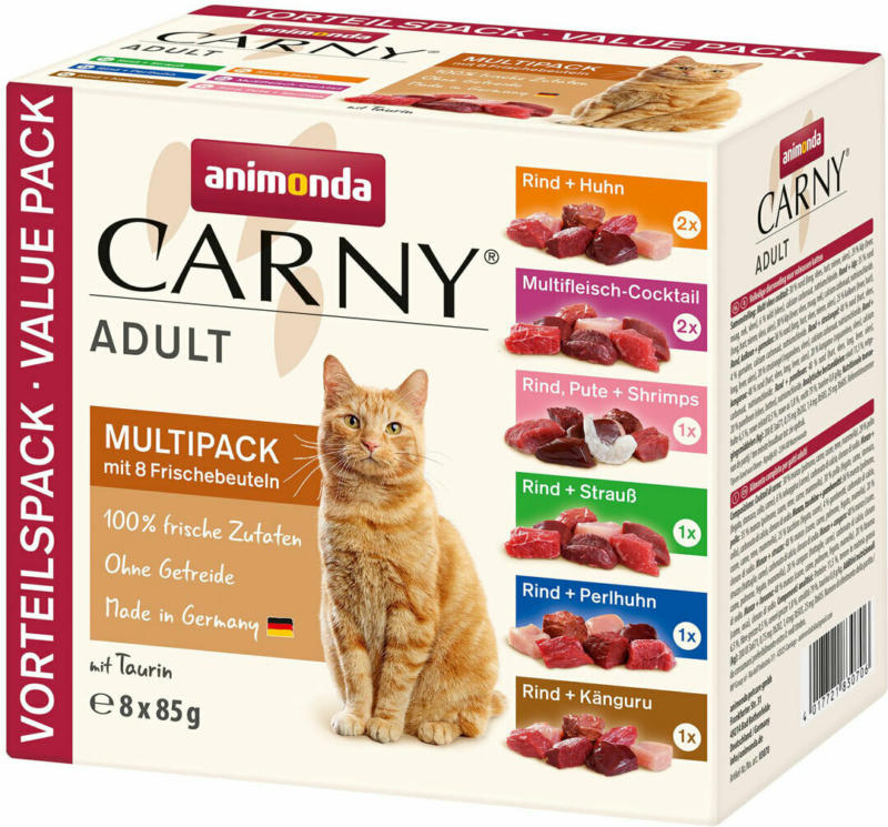 Cat Adult, Multipack, 8x85g, Portionsbeutel