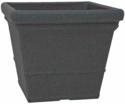 "Gefäß ""Mila"" 40x40x34 cm, schwarz-granit schwarz-granit | 40x34x40 cm"