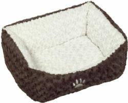 """Komfort-Bett  """"Neiku"""" oval, 75x60x23 cm, braun/ weiß 75x60x23 cm"""