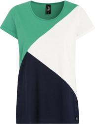 Damen T-Shirt im dreifarbigen Dessin