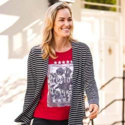 Damen-T-Shirt mit rockigem Aufdruck