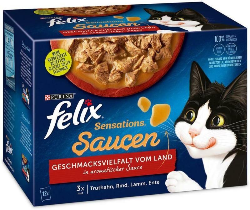 Felix Sensations Saucen Fleisch 12er