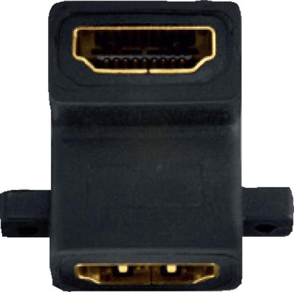 IN AKUSTIK Premium HDMI Doppelkupplung bulk  HDMI Kabel