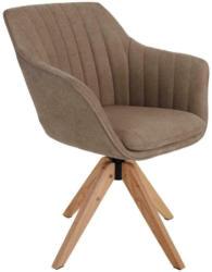 Drehstuhl Belluno Grau-Beige mit Drehbarer Sitzfläche