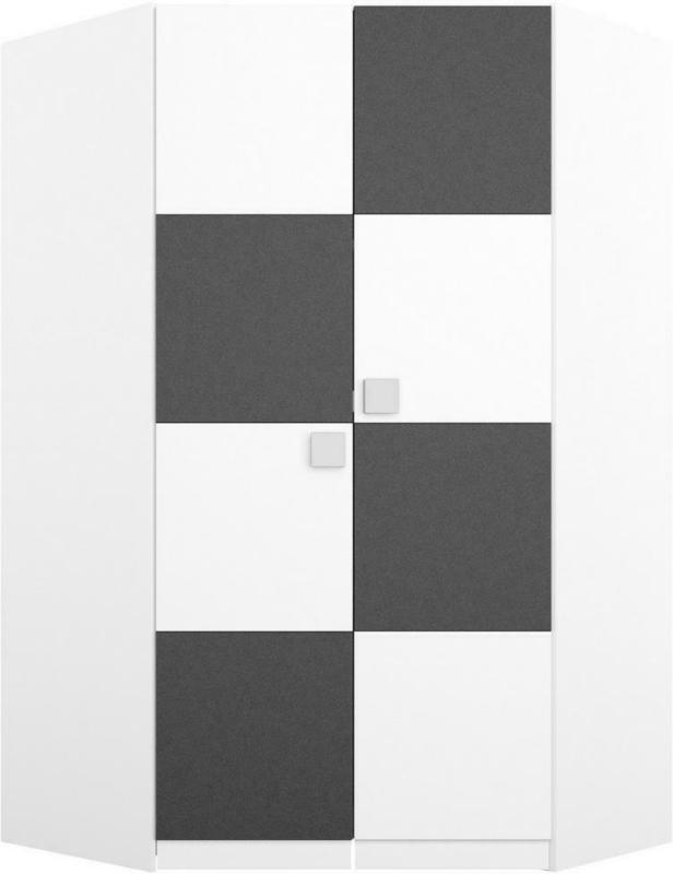 DrehtÃŒrenschrank in Grau, Weiß