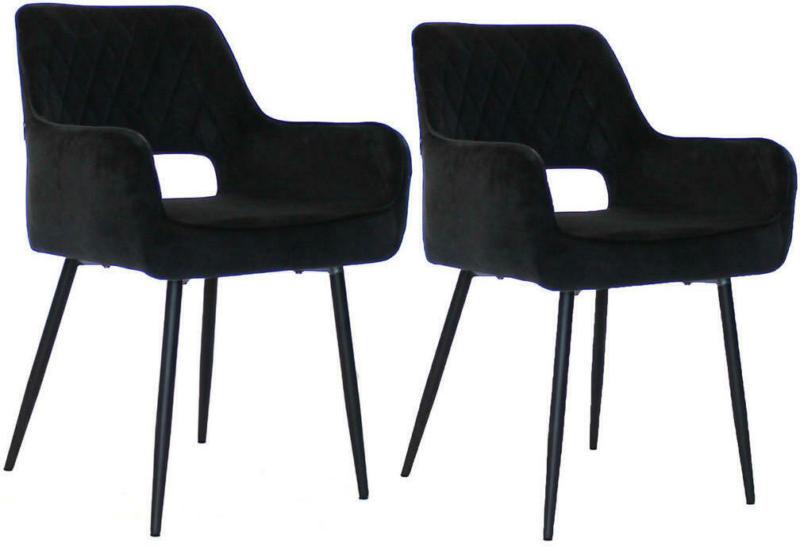 Armlehnstuhl-Set in Schwarz