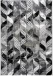 Möbelix Hochflor Teppich Grau/Schwarz Enna 60x115 cm