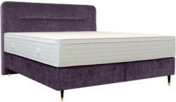 Boxspringbett 200/210 cm in Violett