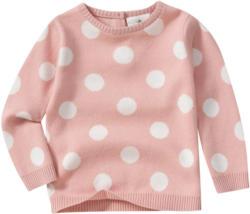 Baby Strickpullover mit großen Punkten (Nur online)