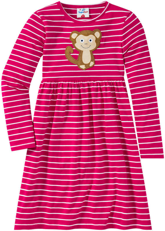 Mädchen Kleid mit Affen-Motiv (Nur online)