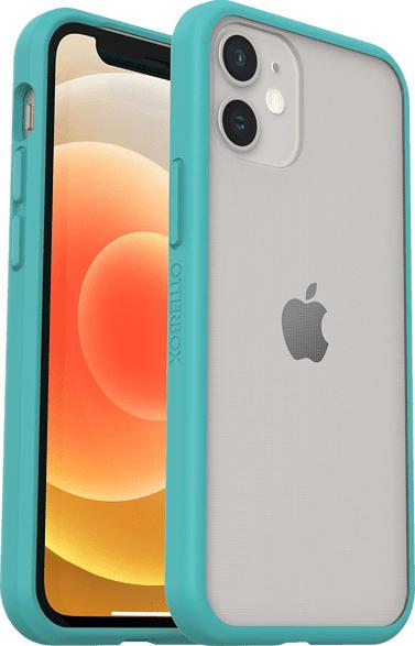 OTTERBOX React , Backcover, Apple, iPhone 12 Mini, Polycarbonat, Kunststoff, Transparent/Blau