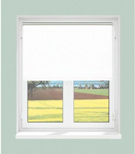 Rollo-Thermo-VD Klebe/Klemm, weiß, ca. 100 x 150 cm
