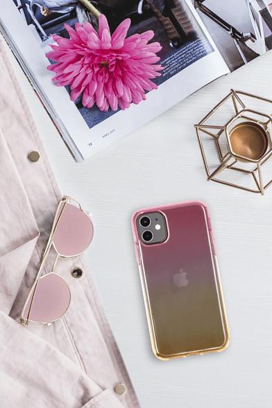 "Cover ""Shade"" für Samsung Galaxy A31, Pink/Gelb"