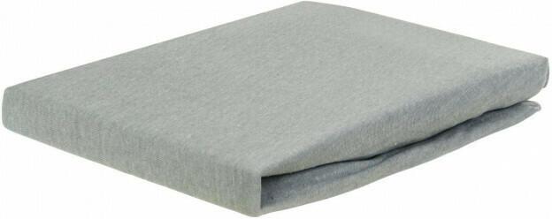 Jersey-Spannbetttuch silber 180 x 200 cm