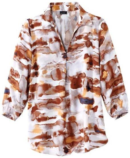 Damen-Bluse mit kunstvollem Aquarell-Look