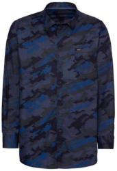 Herren-Hemd mit Camouflage-Muster, große Größen