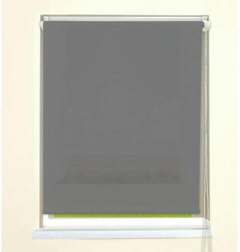 Rollo-Mini-TL Klebe/Klemm, grau, ca. 45 x 150 cm