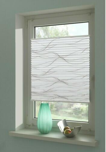 Plissee-Welle, weiß, ca. 60 x 130 cm