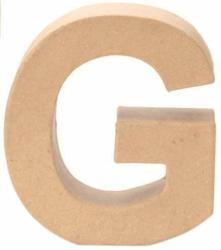 """Papp-Buchstabe """"G"""" 17,5 cm natur"""