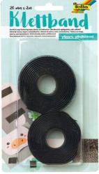 FOLIA Klettband selbstklebend 20 mm x 2 m schwarz