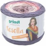 "Pagro GRÜNDL Wolle ""Rosella"" 200g mauve/weiß/rosa/lila"