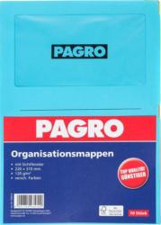 PAGRO Ordnungsmappen A4 10 Stück mehrere Farben