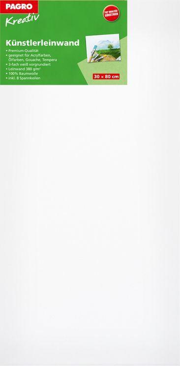 PAGRO KREATIV Keilrahmen 30 x 80 cm weiß