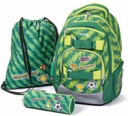 """Schulrucksackset """"Oxy Style Mini - Fussball"""" 3 Teile grün"""