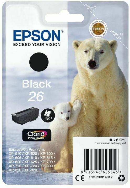 Epson Claria Premium Ink Nr.26 black