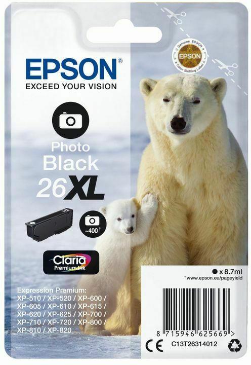 Epson Claria Premium Ink Nr.26XL photo black
