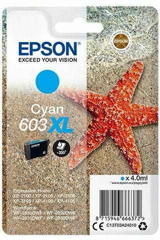 Epson Singlepack Ink Nr.603XL cyan T03A2